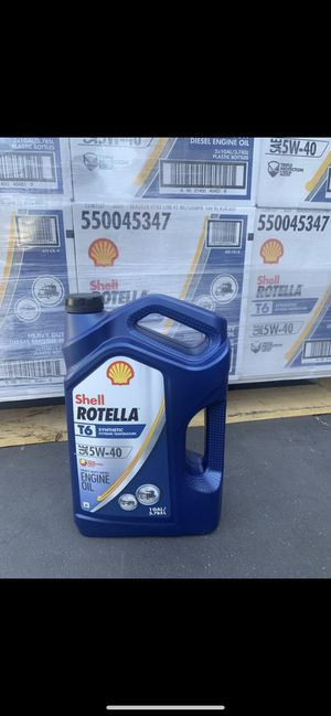 SHELL 5w40 T6 synthetic gallon for Sale in San Dimas, CA