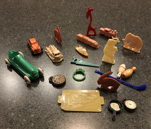 Collectible Cracker Jack and Gumball Toy Prizes (plastic and metal) for Sale in Atlanta, GA