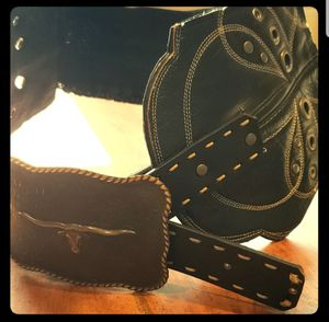 Repurposed Cowboy Boot Belt (one-of-a-kind) for Sale in Leavenworth, WA