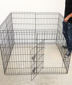 """(NEW) $40 Foldable 36"""" Tall x 24"""" Wide x 8-Panel Pet Playpen Dog Crate Metal Fence Exercise Cage for Sale in South El Monte,  CA"""