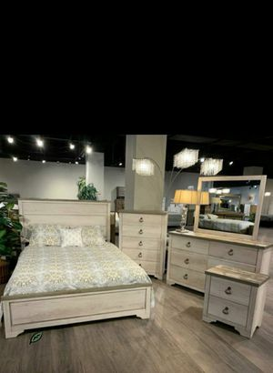 👉$39 Down Payment 👈👍 Patterson Driftwood Gray Panel Bedroom Set for Sale in Jessup, MD