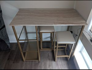 Table with two stools for Sale in Portland, OR