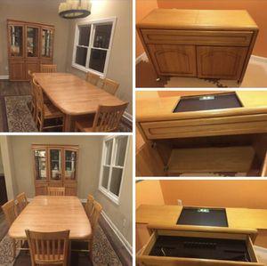 9 piece oak dining set for Sale in Pompton Plains, NJ