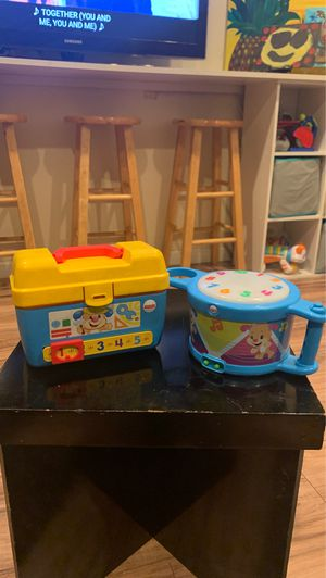 Both Fisher price drum and toolbox for Sale in Stockton, CA