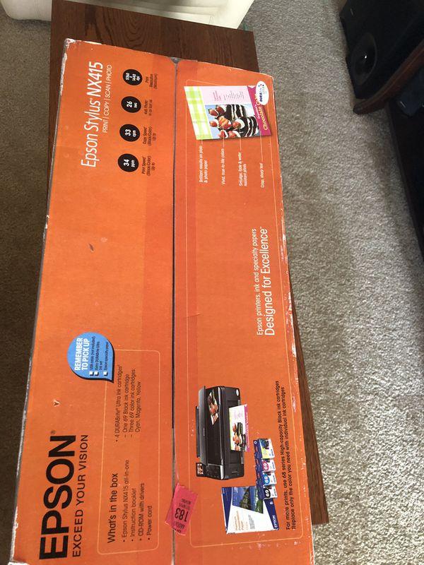Epson stylus nx415 print, copy, scan, photo.