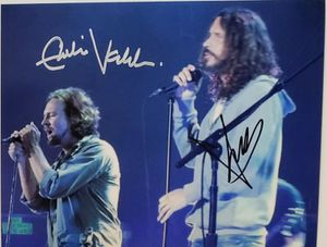 Chris Cornell and Eddie Vedder Original Autographed Photo for Sale in Farmville, VA
