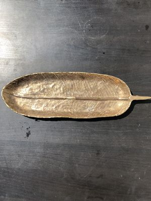 Metal leaf tray dish for Sale in San Mateo, CA