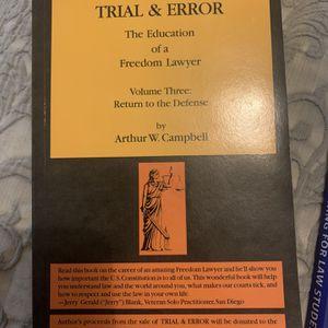 Trial & Error Volume III - Arthur W Campbell for Sale in Los Angeles, CA