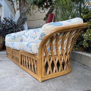 Vintage Boho Mid Century Rattan Wicker Bamboo Couch Sofa for Sale in San Diego, CA