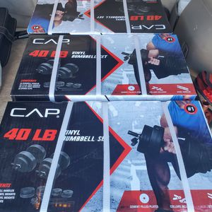 Dumbells adjustable up to 40 lbs max total for pair from CAP for Sale in Anaheim, CA