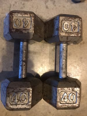 40lb weights, Must Go! $100 a set!!!!! for Sale in Murfreesboro, TN