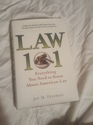 Law 101 by Jay M. Feinman for Sale in Silver Spring, MD