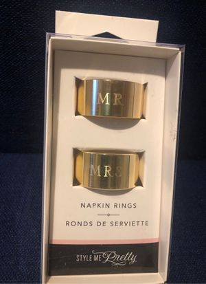Wedding Mr and Mrs napkins rings for Sale in Fort Lauderdale, FL