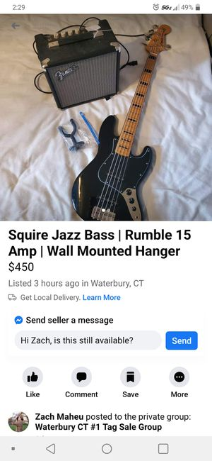 Squire Jess bass for Sale in Waterbury, CT