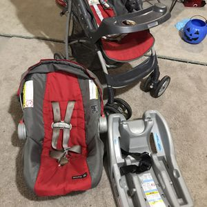 Graco LiteRider Click Connect Travel System, with SnugRide Click Connect 22 Infant Car Seat for Sale in Cumming, GA
