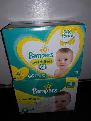 Pampers Swaddlers Size 4 (66 diapers): 2 boxes for $40 I will not accept less. for Sale in Garland, TX