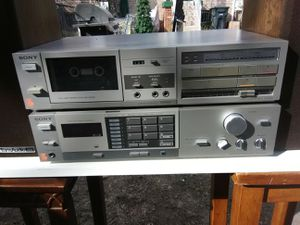 Sony stereo receiver with matching cassette player $175 for Sale in Washington, DC