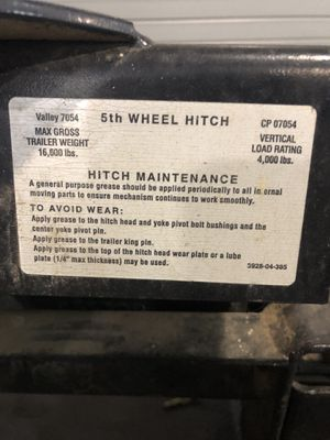5th wheel hitch for Sale in Gatesville, TX