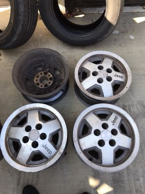 15 in Jeep steel wheels 15x7 for Sale in Los Angeles, CA