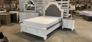 Brand new queen bed frame and nightstand special! Right now only $924 take home with only $39 down! for Sale in La Vergne, TN