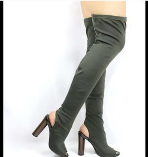 Thigh high olive green boots for Sale in Colton, CA