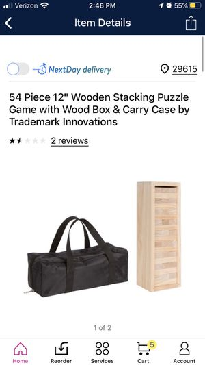 Wooden stacking puzzle game for Sale in Simpsonville, SC
