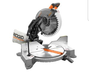15 Amp Corded 12 in. Dual Bevel Miter Saw with Adjustable Laser Guide, Carbide Tipped Blade, and Dust Bag for Sale in Sterling, VA