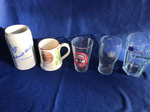 Collectible beer Steins mugs pint glasses and half liter for Sale in Olympia, WA