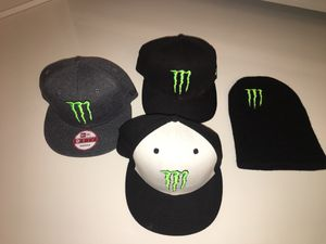 Exclusive Monster Energy Athlete Hats  150 + for Sale in Palm Springs 29909c06618