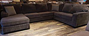 Dark slate gray wraparound sectional for Sale in Bow, WA