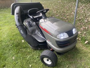 Auto Trans Riding Lawn Mower with Triple Bagger System and Available Tow Cart for Sale in Lombard, IL