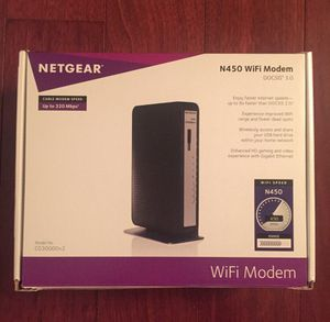 Netgear N450 WiFi Modem DOCSIS 3.0 for Sale in Annandale, VA