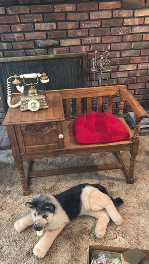 Antique Oak Phone Bench for Sale in Livonia, MI