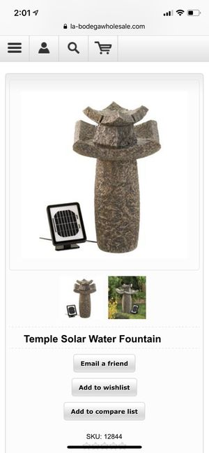 Temple Solar Water Fountain for Sale in New York, NY