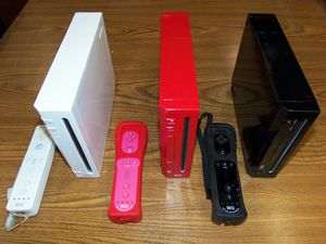 Nintendo Wii Choice of Colors: White, Black, Mario Red for Sale in Salem, OR