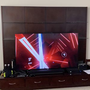 Best Offer - TV Wall With Adjustable Glass Shelves for Sale in Fort Lauderdale, FL