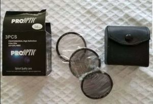 Canon 3 pcs. Pro optic professional high definition filter kit UV+CPL+ND2 for Sale in Long Beach, CA