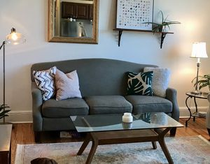 Gray 3 seat sofa, couch Belfort furniture for Sale in Brooklyn, NY
