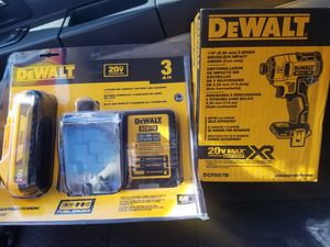 DEWALT 20 V LITHIUM ION BRUSHLESS IMPACT DRILL WITH 20 V BATTERY AND CHARGER for Sale in Phillips Ranch, CA