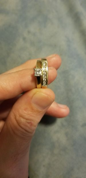 Princess cut solitaire Engagement ring and wedding band set. for Sale in Port Orchard, WA