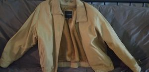 Mens tan leather jacket for Sale in Washington, DC
