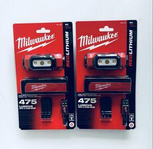 Milwaukee 475L Headlamp $45EACH! for Sale in Fullerton, CA