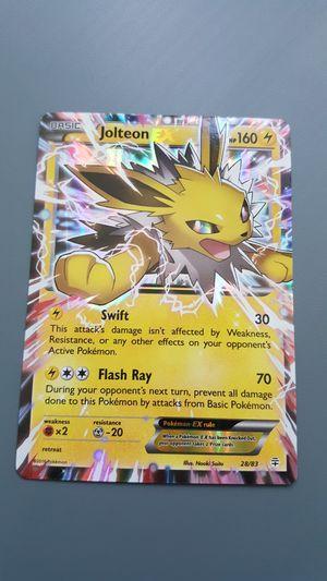 Jolteon EX Pokemon Card for Sale in Phoenix, AZ