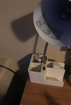 Lamp with charging plug and USB ports for Sale in Henderson, NV