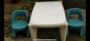 NICE KIDS PLASTIC TABLE WITH 2 CHAIRS! DELIVERY AVAILABLE FOR $20 for Sale in Portland, OR