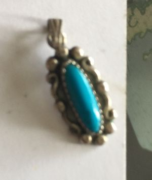 Vintage Sterling silver turquoise small charm/or can use for pendant for Sale in Portland, OR