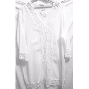Blue Island White Beach Coverup Size XL for Sale in Buffalo, NY