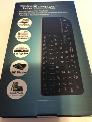 Mini Wireless 2.4ghz Keyboard With Mouse Touchpad Remote Control for Sale in Chicago, IL