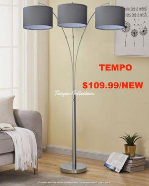 3 Headed Floor Lamp, Grey Shade for Sale in Huntington Beach, CA