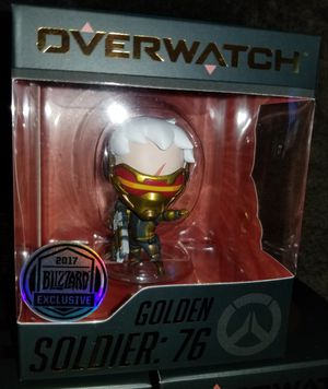 """2017 SDCC Blizzard Overwatch Exclusive GOLDEN SOLDIER 76 """"Cute But Deadly"""" Figure Toy for Sale in San Diego, CA"""